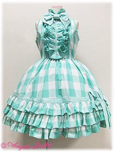 Lolibrary | Angelic Pretty - OP - Gingham Frill Sleeveless OP