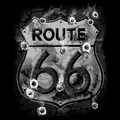 Biker Tshirt Route 66 Bullet Holes USA Eagle Motorcycle Rally Ride Road Chopper #Unbranded #GraphicTee