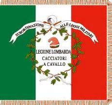 Bandiera di guerra dei cacciatori a cavallo della Legione lombarda