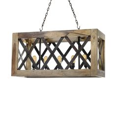 Under most circumstances, you don't want to be boxed in. But when it comes to lighting fixtures, that's different. This stylish, industrial chandelier is designed to think outside the box.