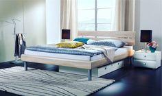 Modernes Designerbett Diego - cm - Ferrara - Fußhöhe 20 cm - BE Pallet Furniture, Furniture Makeover, Home Furniture, Furniture Design, Furniture Projects, Outdoor Furniture, Diy Pillows, Cushions, Woodworking Kits