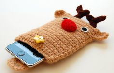amigurumi reindeer ipod/iphone case by amieggs, via Flickr
