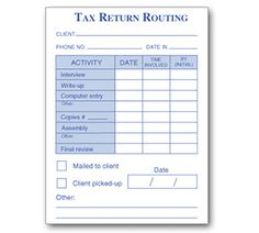 49-100 -- Tax Return Routing Post-it Note Pad