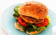 Curried Chickpea and Carrot Burger