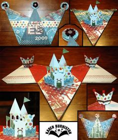Pop-up Castle and Crown templates