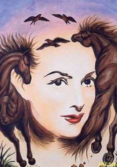 Jumping Horses and Woman Optical Illusion - http://www.moillusions.com/jumping-horses-woman-optical-illusion/