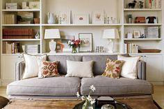 love the built ins - and they are filled perfectly