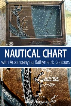 Laser cut a custom nautical chart with accompanying bathymetric contours. #Instructables #lasercut #workshop #home #decor Cast Acrylic, Nautical Chart, Cosplay Diy, Wooden Decor, Contours, Laser Cutting, Workshop, It Cast, Cool Stuff