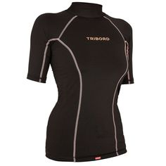 Check out our New Product  womens anti uv short sleeves ride top in black Tops & Tees Made for female surfers who want protection from the sun without irritation in water above 20 degree.The fitted womens short sleeved anti UV t shirt for sun protection, even in the water as well as protection against irritation from contact with the board  ₹919