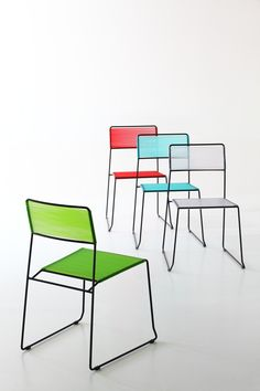 Sled base stackable chair LOG SPAGHETTI by arrmet