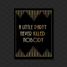 Great Gatsby Black and Gold Art Deco Hollywood by PaperScissorsPop