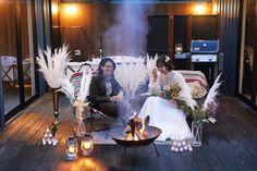 グランピングフォトウェディング&藤乃スイートステイプランの撮影イメージ Glamping, Candles, Wedding, Valentines Day Weddings, Go Glamping, Candy, Candle Sticks, Weddings, Marriage