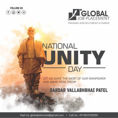 Let Us Make the Most of Our Manpower And Make India Grow Happy National Unity Day! Vallabhbhai Patel, We Are Hiring, Homeopathy, Unity, Preschool, India, In This Moment, Let It Be, World