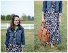 Bramblewood Fashion - Modest Fashion Blog: What I Wore: '90s Floral Dress