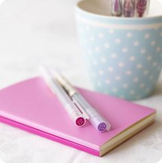 Muji pens - LOVE THEM!  (and these awesome notebooks too)