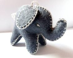 Natural toys wool felt animals role play Waldorf eco by Felthorses Felt Gifts, Natural Toys, Felt Baby, Felt Toys, Hanging Ornaments, Felt Animals, Baby Elephant, Toys For Girls, Cute Gifts