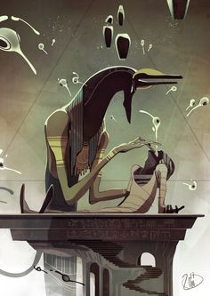 cdc june 2017 egyptian gods by lonnie bao Spectrum 6: The Best in Contemporary Fantastic Art
