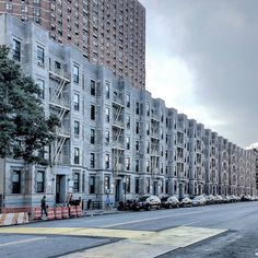 A row of #apartment_houses in #Harlem, #Manhattan.