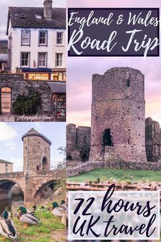 Best of the South West Road Trip: 3 days in South England and South Wales. Road trip through historic UK: Monmouth, Raglan Castle, Hay on Wye and More!