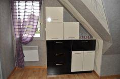 Blanc perlé, et noir, à réaliser vous même sur www.DessineTonMeuble.fr