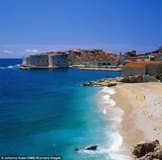 Coastal beauty: Dubrovnik's beaches are lapped by the perfectly clear-blue Adriatic Sea...