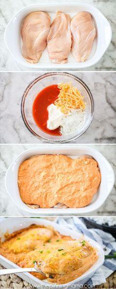 How to make Buffalo Chicken Casserole #cookingideas