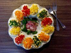 Jajka faszerowane Bruschetta, Food And Drink, Eggs, Chicken, Meat, Cooking, Breakfast, Ethnic Recipes, Blog