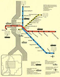 Historical Map: Sofia Metro, Bulgaria, c. 1980s