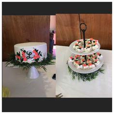 Livingston Wedding Shower Cake & Petit Fours (Sept 2017)