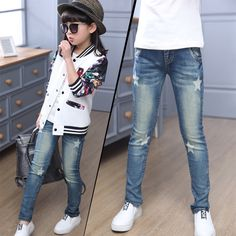 8a4af6ec886c2 2017 autumn new children girls jeans stretch feet pants Middle waist skinny  pants casual pants star pattern-in Jeans from Mother   Kids on Aliexpress.com  ...