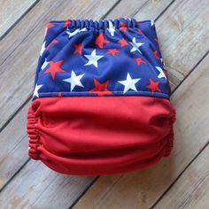 Star Spangled Pocket Diaper - Cloth Diaper - Pocket Cloth Diaper - Reusable Diaper - Washable Diaper – Quick Dry Cloth Diaper