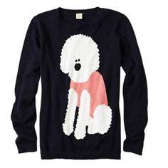 Anthropologie understanding poodle sweater 12 Like new, fine gauge cotton Anthropologie Sweaters Crew & Scoop Necks
