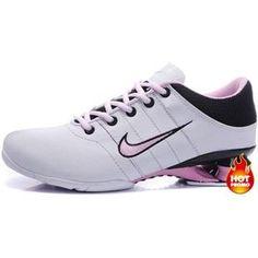 4956f7f1a212 Womens Nike Shox R2 White Black Pink Nike Shox Shoes