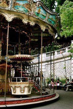 Carrousel au Sacre Cœur.  Montmartre, Paris, France.Paris