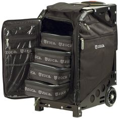 cosmetology roller bags   ... Pro Artist Case / Sit On Rolling Kit Bag (FRAME, INSERT & POUCHES