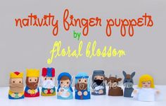 Sewing: Nativity Felt Finger Puppets