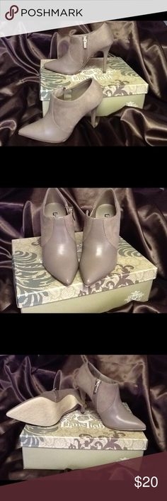 NWOT Cute Taupe Booties👠👠👠💕 Super cute bootie never worn size 3.5 heel💕💕 limelight Shoes Ankle Boots & Booties