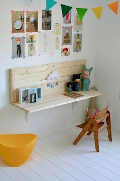 kinderkamer bureau steigerhout