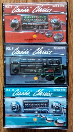 Cruisin' Classics LOT OF 3 Cassette Tapes Vol 1-3 Shell Oil  Promo CBS Special Products HTF Cassettes! Tested. Play Great! $24.99 EBAY