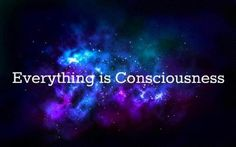 Everything is consciousness.