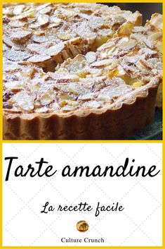 Tarte amandine : la recette facile - Expolore the best and the special ideas about Cocktail recipes Tart Recipes, Snack Recipes, Dessert Recipes, Easy Smoothie Recipes, Healthy Smoothie, Cinnamon Cream Cheeses, Pumpkin Spice Cupcakes, Fall Desserts, Ice Cream Recipes