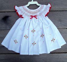 Vestido Casinha De Abelha Branco Morang. | Ateliê Dona Idalina | Elo7