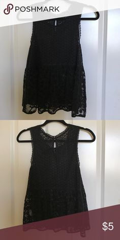 black lace american eagle tank top never worn black lace american eagle tank top! American Eagle Outfitters Tops Tank Tops
