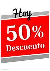 456b1af2b9cd1 Para tus ofertas del día un cartel 50% descuento