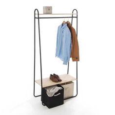 Petit portant à vêtements Mini Dressing, Style Brut, Inspiration Design, Wardrobe Rack, Bedroom, Pin, Furniture, Home Decor, Clothes Rack Bedroom