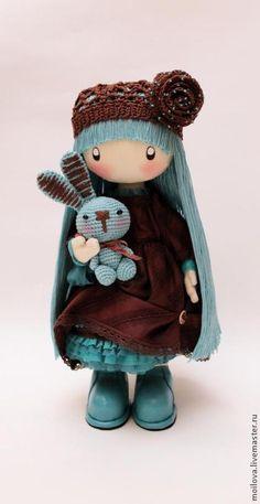 Текстильная кукла Мими (шоколадно-бирюзовое бохо) для Натальи.... - интерьерная кукла