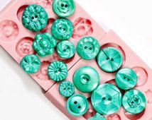 Button mold set of two moulds - Create Fondant Vintage Buttons - Candy Buttons - Edible Buttons - Food Safe Button Mold (237)