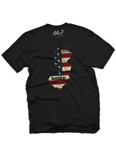 """Men's """"New Jersey Home"""" Tee by Fifty5 Clothing (Black) #inkedshop #newjersey #usa #america #tshirt #patriotic"""