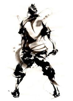 yu-ki nishimoto Martial, Japanese Ink Painting, Drawing Ideas, Samurai, Drawings, Inspiration, Illustrations, Martial Arts, Ideas For Drawing