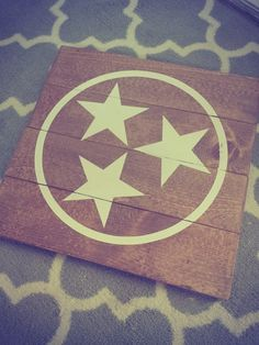 Stars of the Tennessee flag Wood Sign by NeverBoardDesigns on Etsy
